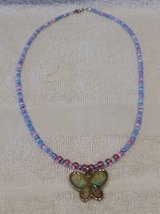 "Handcrafted Beaded Necklace, Madame Butterfly, 18"" Long in 29 Palms, California"