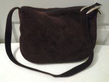 Apostrophe Dark Brown Suede Handbag in Eglin AFB, Florida