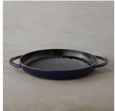 Staub 10- Inch Cast Iron Pure Grill With Enamel in Dark Blue in Ramstein, Germany