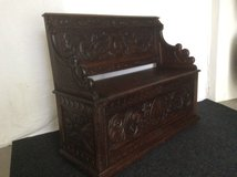 Antique French Bench oak wood  hand- carved in Baumholder, GE