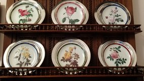 Danbury limited mint, Roses collection 8 plates/Silver metal 6 chargers in Ramstein, Germany
