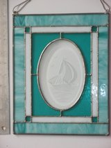 Stained Glass - Etched Ship Insert in Glendale Heights, Illinois