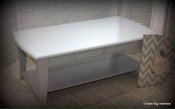 Coffee Table in Grey with Silver Drawer Pull in Bolingbrook, Illinois