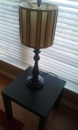 ****EXPRESSO SIDE TABLE WITH MATCHING LAMP **** in Kingwood, Texas