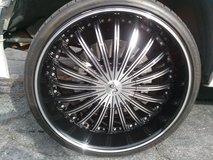 """22"""" black and polished wheels in Camp Pendleton, California"""
