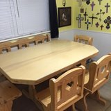Kitchen dining set (table, chairs, bench, cart with shelf) in San Angelo, Texas