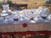 Pfaltzgraff 12 Place Dinning set with Teapot and Serving Pieces Large Set in Alamogordo, New Mexico