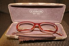 REAL COACH CLEAR LENS GLASSES & COACH CASE in Lakenheath, UK