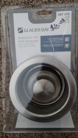 Glacier Bay Sink Disposal rim and stopper  Brand new in Chicago, Illinois