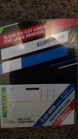 "Blank Die-cut Labels for Desktop Laser printers and copiers. Size 4"" x 3 1/3"" in Shorewood, Illinois"