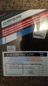"Blank Die-cut Labels for Desktop Laser printers and copiers. Size 3 3/8"" x 2 1/3"" in Shorewood, Illinois"