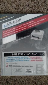 "Blank Die-cut Labels for Desktop Laser printers and copiers. Size 1 1/4"" x 3 1/4"" in Shorewood, Illinois"