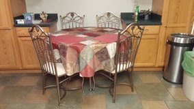 Glass Top Dining set in Fort Rucker, Alabama