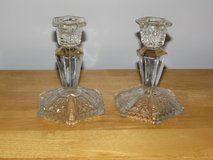 Reduced Again~Vintage Crystal Candlesticks in Sandwich, Illinois