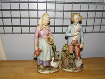 Vintage HOMCO Statues of Farmer & Wife in Yorkville, Illinois