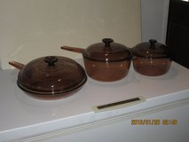 Vision glass cookware 6 pieces in Alamogordo, New Mexico