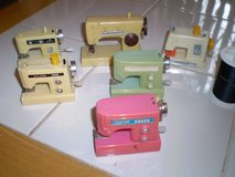 6 Miniature Plasticw Wind Up Sewing Machines in Houston, Texas