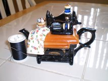 """Infusion"" Sewing Machine Porcelain Teapot in Houston, Texas"
