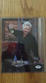 Guy Fieri signed 8x10 photo in Fort Carson, Colorado