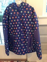 Girls Lands End Winter Jacket - Purple Polka Dot Size 10 in Naperville, Illinois