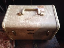 Vintage White Marbled Samsonite luggage case train cosmetic case in Morris, Illinois