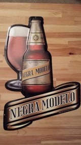 Negro Modelo Beer Sign in Wilmington, North Carolina