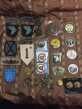 Military coins and patches lot in Houston, Texas