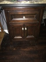 Solid wood end table with drawer/cubby in Eglin AFB, Florida