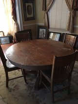 Solid Wood Tiger Oak Table w/Chairs and Buffet in Montgomery, Alabama
