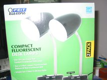 New NIB Feit Electric Compact Fluorescent Black Desk Lamps 2-Pack in Elgin, Illinois