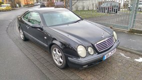 Black Mercedes CLK Coupe in Ansbach, Germany