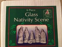 5 piece glass Christmas Holiday Nativity Scene in Naperville, Illinois