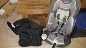 car seat and travel bag w wheels and seat belt crank in Fort Lewis, Washington