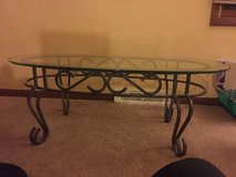Beautiful wrought iron glass table in St. Charles, Illinois