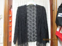 Black Lace Beaded Jacket - Womens Plus Size 18W in Kingwood, Texas