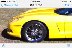 C6 Z06 replica wheels and tires REDUCED in Fort Polk, Louisiana