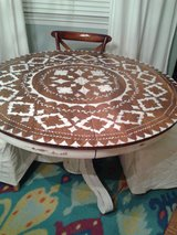 Boho Chic Oak Round table in Naperville, Illinois