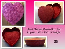Heart Shaped Woven Box, Red in Columbus, Ohio