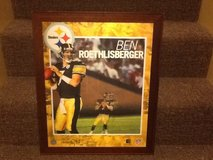 Ben Rothlisberger hollogram picture with wood frame in Fort Knox, Kentucky