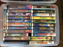 55 Disney VHS video tapes + Samsung VCR in Lockport, Illinois