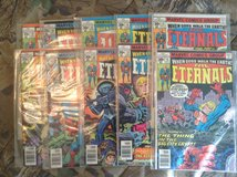 Eternals comic books, from the 1980s in Kingwood, Texas