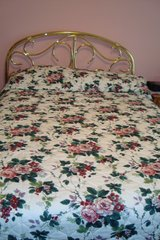 Beautiful Queen to King sz comforter in DeKalb, Illinois