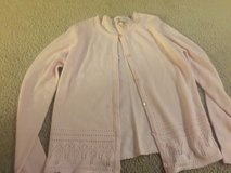 Pink front button down sweater 14/16 in Camp Lejeune, North Carolina