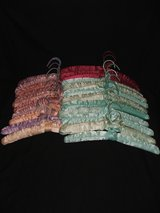 Satin Padded Hangers Assorted Colors 21 Pcs in Naperville, Illinois