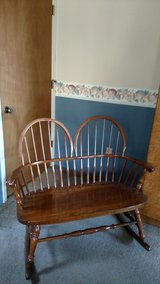 Double Wooden Rocking Chair in Beaufort, South Carolina