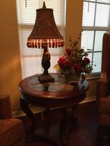 CHERRY & GLASS END TABLE in MacDill AFB, FL