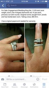 ENGAGEMENT/WEDDING RING SET in League City, Texas