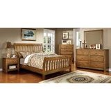 Oak Finish Queen Bed/ Bedroom Set in Fort Irwin, California