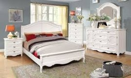 White Finish Queen Bed in Fort Irwin, California
