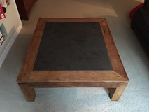 HEAVY SLATE & WOOD COFFEE TABLE in MacDill AFB, FL